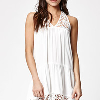 Kendall and Kylie Goddess Neck Crochet Trim Dress at PacSun.com