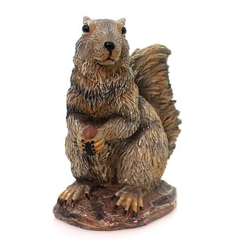 Home & Garden Gray Squirrel Figurine
