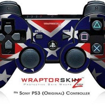 Sony PS3 Controller Decal Style Skin - Confederate Rebel Flag (CONTROLLER SOLD SEPARATELY)