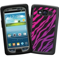 """Pink and Purple Zebra """"Protective Decal Skin"""" for Otterbox Samsung Galaxy S3 Case"""