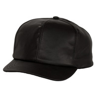 Levine Fitted Leather Baseball Cap