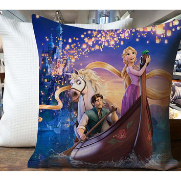 Tangled In Boat Rapunzel - Housewares , Home Decor , Pillow Case One Side / Two Sides Design