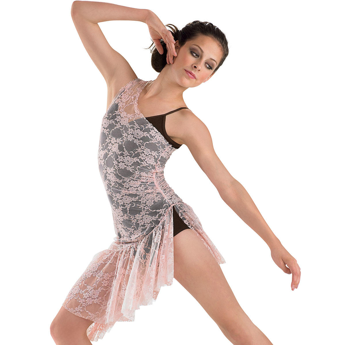 Asymmetrical Floral Lace Overdress From Dancewear Solutions