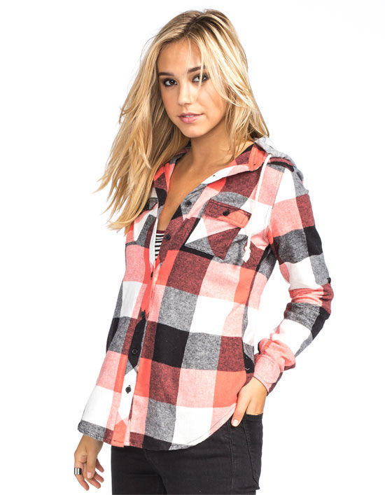 Full Tilt Buffalo Womens Hooded Flannel from Tilly's
