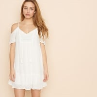 Peasant Cold Shoulder Dress