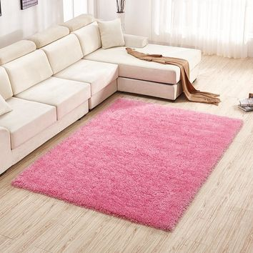 Living Room Bedroom Carpet Stretch Simple Design Floor Mat 120*170cm [118170222617]