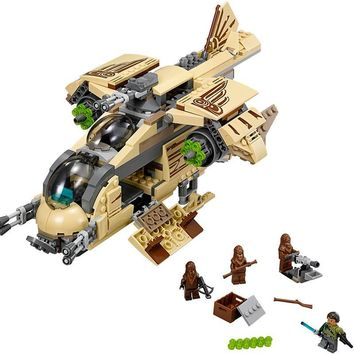 Star Wars Force Episode 1 2 3 4 5 10377  Wookie Gunship Compatible with Legoing 75084 Block Set  Building Brick  Toy For Kids AT_72_6