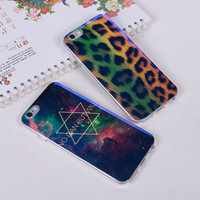 Soft Laser Galaxy Leopard Case for iPhone