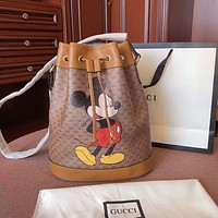GUCCI x Disney joint retro female bucket bag shoulder bag crossbody bag