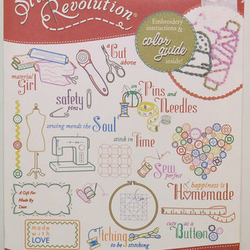 Stitcher's Revolution Iron-On Embroidery Patterns SR12 Sew Crafty, Sewing, Fabric Painting, Quilting, Woodworking, Baby, Tote Bag, Towels