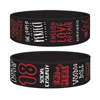 5 Seconds Of Summer - 5SOS - Rubber Wristband / Bracelet (Tracks)