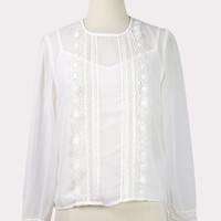 Meringue Sheer Blouse