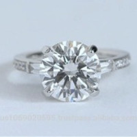 2.46ct J-I1 Round Diamond Engagement Ring GIA certified Platinum JEWELFORME  BLUE