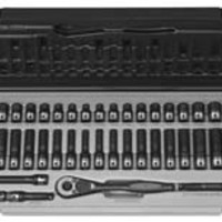 Grey Pneumatic 1 4 Dr 53Pc Fract Metric Duo Socket Set 12 Pt GRE89253CRD
