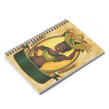 African Women Village Life Spiral Notebook - Ruled Line