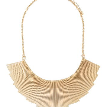 Matchstick Fan Statement Necklace