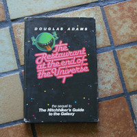 The Restaurant At The End Of The Universe By Douglas Adams Hardback Book With Dust Jacket BOOK CLUB EDITION