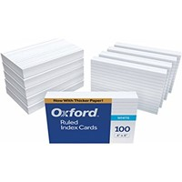 "Oxford Ruled Index Cards, 4"" x 6"", White, 1,000 Cards (10 Packs of 100) (41)"