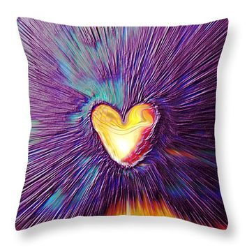 "Popping Passion Throw Pillow 14"" x 14"""