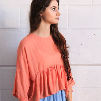 Girl Next Door Top - Coral