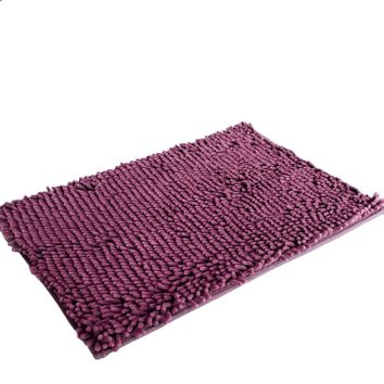 New qualified Soft Shaggy Non Slip Absorbent Bath Mat Bathroom Shower Rugs Carpet dec31