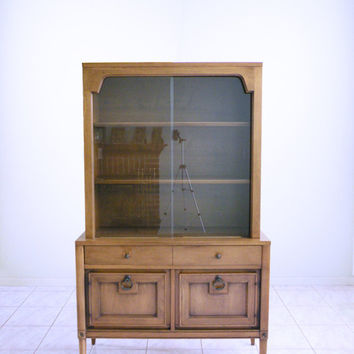 mid century modern china cabinet SPANISH REVIVAL minimalist hutch by Basic Witz