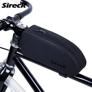 Sireck Bicycle Bag 2 Colors Waterproof Mountain Road Bike Bag Cycling Front Basket Top Frame Tube Bag Bicycle Accessories