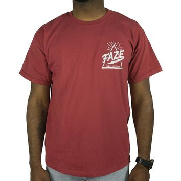 FAZE Logo Tee in cranberry