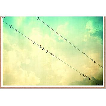 Birds on a Wire Card