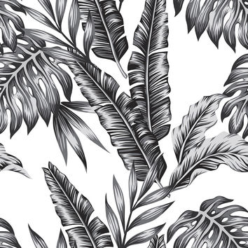 Retro Palms Removable Wallpaper