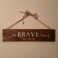 Custom Family Name Sign, Family Name, Wood Family Sign, Custom Family Sign, Family, Family Name Sign, Rustic Family Name Sign, Welcome Sign