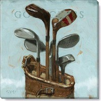 Gallery Wrap on Wood Frame ~ Golf Clubs