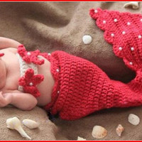 Newborn Baby Crochet Diamond Knit Costume