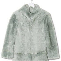 Shearling Chubby Jacket by Boutique - Pistachio