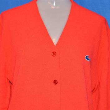60s Haymaker Lacoste Red Cardigan Sweater Women's 38