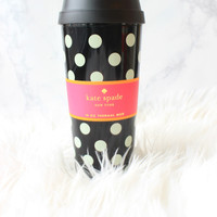 Black Dot Thermal Mug - Kate Spade