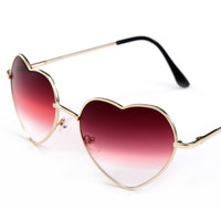 Fashion Sunglasses Women Brand Designer Classic Pink Heart Shaped Sun Glasses Vintage