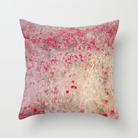 Fields of poppies Throw Pillow by Guido Montañés