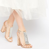 ASOS HOLIDAYS Embellished Heeled Sandals