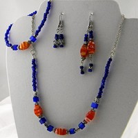 Blue and Orange Fantasy Handmade Set
