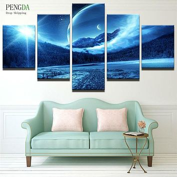 PENGDA Modular Pictures 5 Panels Plant Landscape Pictures HD Print Canvas Painting On Oil Paintings Wall For Living Room
