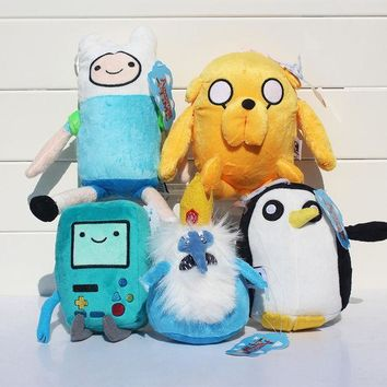ICIK272 Adventure time Plush Toys 5style Jake Finn Beemo BMO Penguin Gunter Ice king Stuffed Animals Plush Dolls Soft Toys Free Shipping
