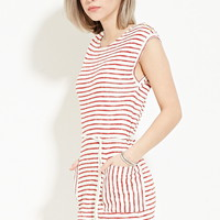 Drawstring Striped Dress | Forever 21 - 2000151237