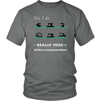 Vintage Sewing Machine Collectors Lovers Funny Humor Tshirt