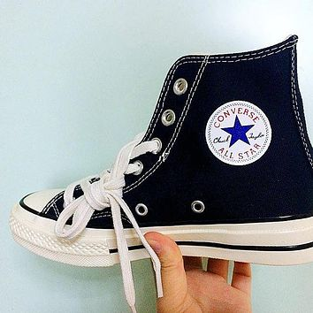 """Converse"" Popular Unisex Leisure Canvas High Help Flats Sneakers Sport Shoes I"