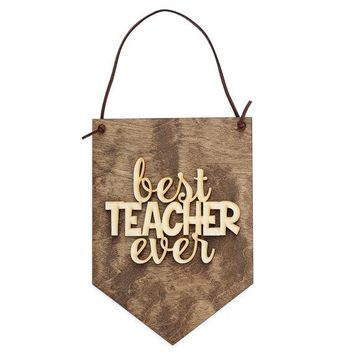 Teacher Gift Ideas - Teacher Appreciation Week - Back to School Present - Teacher Quotes - Classroom Decor - Desk Decor Sign - Teaching Sign