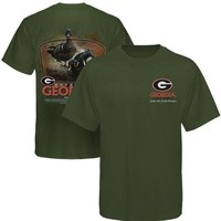Georgia Bulldogs Wood Ducks T-Shirt - Green