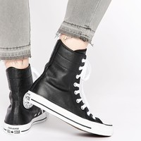 Converse Black Chuck Taylor All Star Hi Rise Boot Trainers