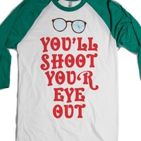 White/Evergreen T-Shirt | Fun Christmas Story Shirts