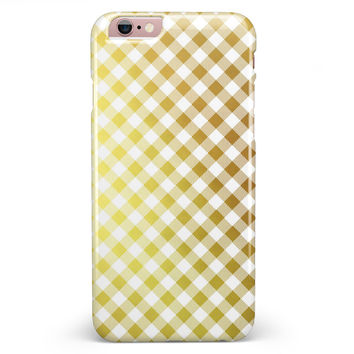 Gold and White Plaid Picnic Table Pattern iPhone 6/6s or 6/6s Plus INK-Fuzed Case
